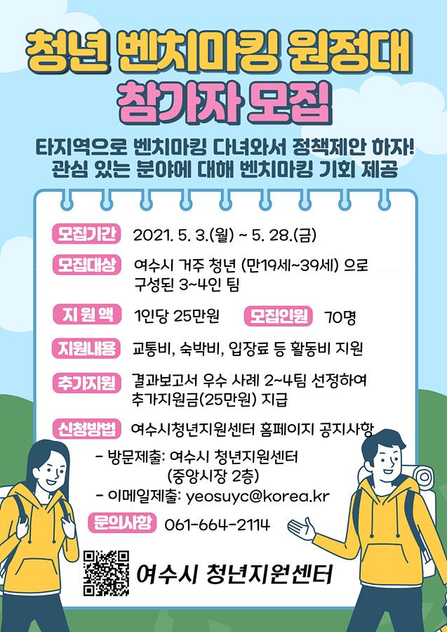 """여수시, """"정책제안, 자기계발"""" 청년 벤치마킹 원정대 모집"""