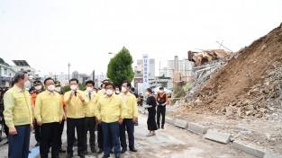 김부겸, 광주 철거건물 붕괴사고 현장 방문